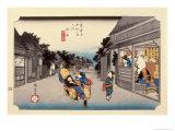The 53 Stations of the Tokaido, Station 35: Goyu-shuku, Aichi Prefecture Giclee Print by Ando Hiroshige