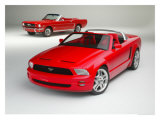Ford Mustang Convertibles Giclee Print