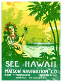 See Hawaii, Matson Navigation Giclee Print
