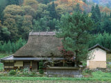 Thatched Roof House Photographic Print