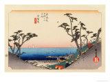The 53 Stations of the Tokaido, Station 32: Shirasuka-juku, Shizuoka Prefecture Giclee Print by Ando Hiroshige