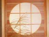 Circular Window and Pampas Grass Photographic Print