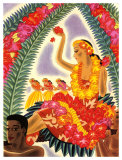 Hula and Lei Giclee Print by Frank Mcintosh