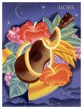 Aloha Ukulele Giclee Print by Frank Mcintosh