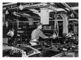 Highland Park Chassis Assembly Line, 1947 Giclee Print