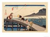 The 53 Stations of the Tokaido, Station 26: Kakegawa-juku, Shizuoka Prefecture Giclee Print by Ando Hiroshige