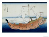 36 Views of Mount Fuji, no. 30: The Kazusa Province Sea Route Giclee Print by Katsushika Hokusai
