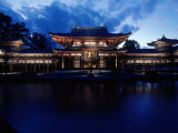 Evening View of Houou-Do Pavillion of Byodo-In Temple, Uji, Kyoto, Japan Photographic Print