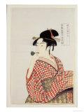 Poppin O Fuku Onna Giclee Print by  Utamaro