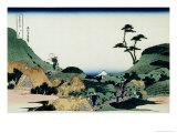 36 Views of Mount Fuji, no. 25: Shimomeguro Giclée-Druck von Katsushika Hokusai