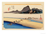 The 53 Stations of the Tokaido, Station 24: Kanaya-juku, Shizuoka Prefecture Giclee Print by Ando Hiroshige