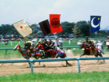 Horse Race in Samurai Armors Photographic Print