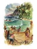 Hawai Lámina giclée por Louis Macouillard