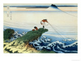 36 Views of Mount Fuji, no. 15: Kajikazawa in Kai Province Giclée-Druck von Katsushika Hokusai