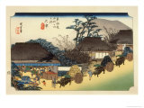 The 53 Stations of the Tokaido, Station 53: Otsu-juku, Shiga Prefecture Giclee Print by Ando Hiroshige