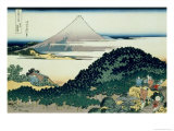 36 Views of Mount Fuji, no. 6: The Coast of Seven Leagues in Kamakura Giclée-Druck von Katsushika Hokusai