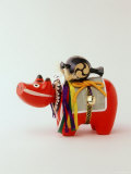 Toy Cow, Folk Art, a Local Toy of Aizuwakamatsu, Fukushima, Japan Photographic Print