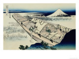 36 Views of Mount Fuji, no. 20: Ushibori in the Hitachi Province Giclee Print by Katsushika Hokusai