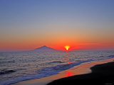 Mt. Rishiri at Sunset Photographic Print