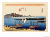 The 53 Stations of the Tokaido, Station 18: Ejiri-juku, Shizuoka Prefecture Giclee Print by Ando Hiroshige