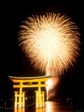 Fireworks at Miyajima Photographic Print