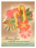Matson Lines to Hawaii, Women with Lei Giclee Print