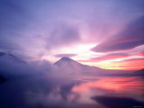 Mt. Fuji at Dawn, Viewed from Lake Motosu, Yamanashi, Japan Photographic Print