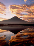 Mt. Fuji and Lake Tanuki Photographic Print