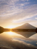 Mt. Fuji and Lake Shoji Photographic Print