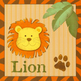 León de safari Lámina por Smatsy Pants