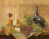 Bordeaux Gold Prints by Janet Stever