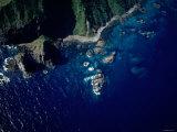 Aerial View of Coastline Photographic Print