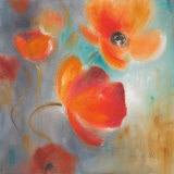 Scarlet Poppies in Bloom I Poster by Lanie Loreth