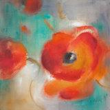 Scarlet Poppies in Bloom II Print by Lanie Loreth