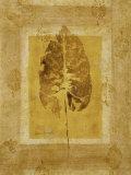Golden Glow Leaf II Print by Lanie Loreth