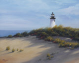 Lighthouse on the Shore Art by Vivien Rhyan