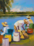 Fishing I Prints by Jane Slivka