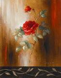 Crimson Rose II Art by Lanie Loreth