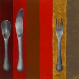 Bon Appetit Stripes II Posters by Lanie Loreth