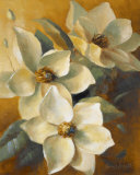 Magnolias Aglow at Sunset II Poster by Lanie Loreth