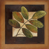 Leaves Over Brown II Poster by Patricia Quintero-Pinto