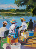 Fishing II Prints by Jane Slivka