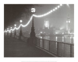 River Thames by Night Print by Shener Hathaway