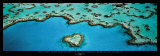Heart Reef, Great Barrier Reef Poster by Grant Faint