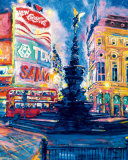 Piccadilly Circus, London Art by Roy Avis