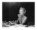 Marilyn Monroe, backstage Print van Sam Shaw