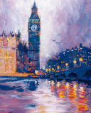 Big Ben, London Art by Roy Avis