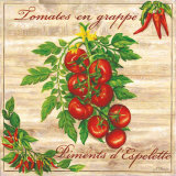 Tomates en Grappe Prints by Noel Romero