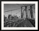 Across Brooklyn Bridge Prints by Trefor Ball