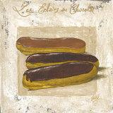 Les Eclairs au Chocolat Posters par Véronique Didier-Laurent